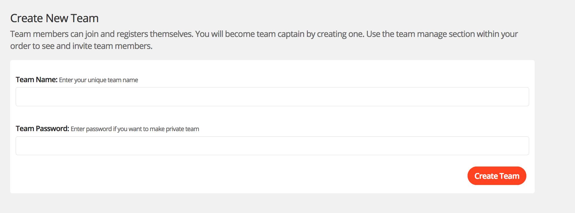 Event Organiser - Create a team – EtchRock